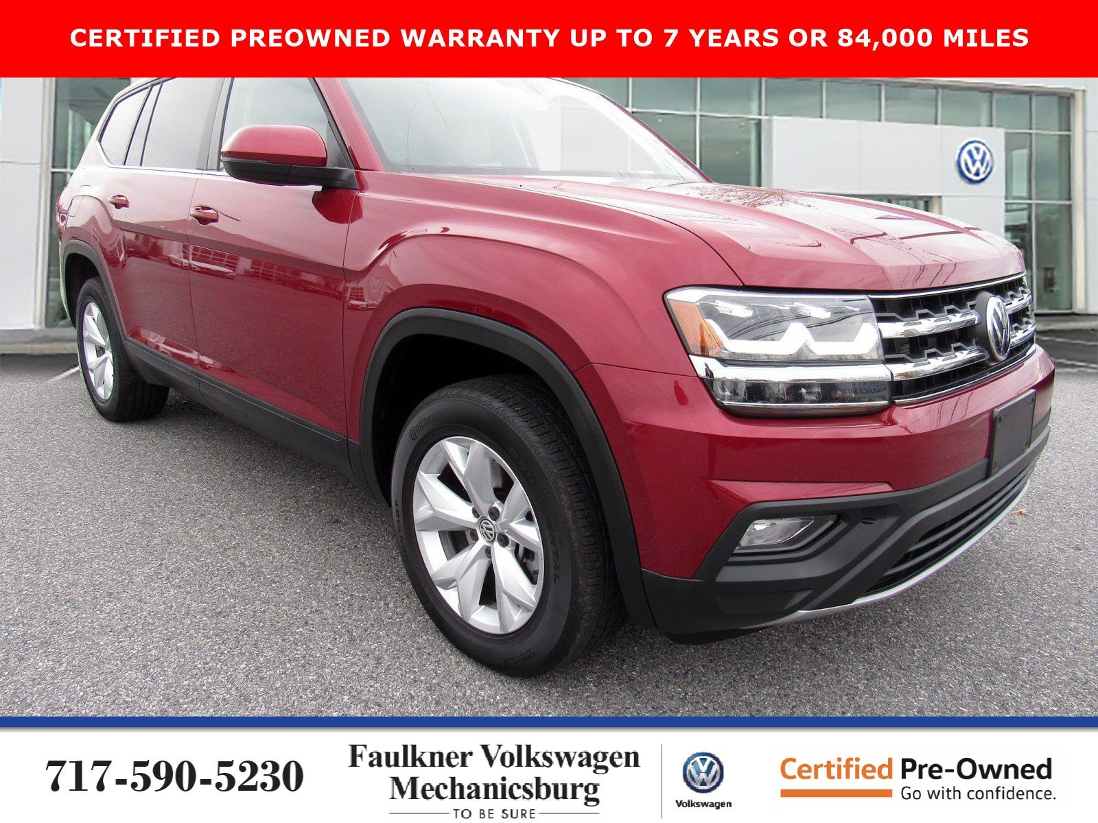 Certified Pre-Owned 2018 Volkswagen Atlas 3.6L V6 SE with Technology