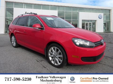 Certified Pre-Owned 2014 Volkswagen Jetta SportWagen TDI with Sunroof & Nav