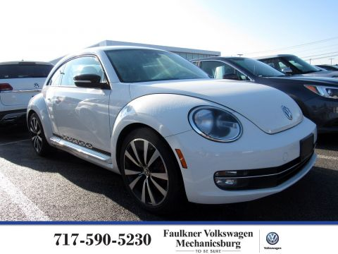 Pre-Owned 2012 Volkswagen Beetle 2.0T White Turbo Launch Edition PZE
