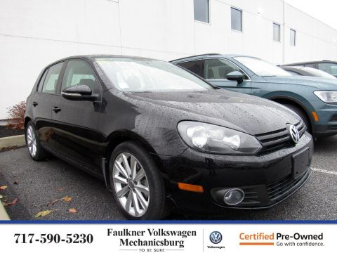 Certified Pre-Owned 2012 Volkswagen Golf TDI with Sunroof & Nav