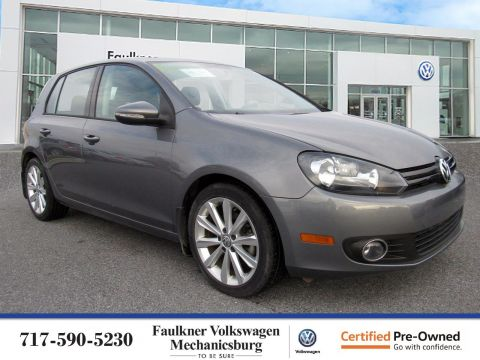 Certified Pre-Owned 2013 Volkswagen Golf TDI with Sunroof & Nav